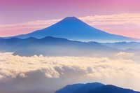 山梨県 七面山より富士山遠望