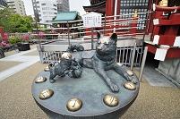 東京都 水天宮の子宝いぬ(改修前)