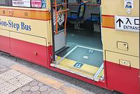 東京都 ノンステップバスの乗降口