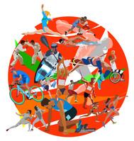 円形とオリンピック赤