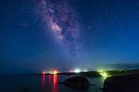 鹿児島県 恵美之江展望公園から見た天の川