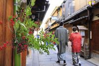 京都府 祇園の正月飾り