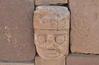 ティワナク遺跡 司祭の顔