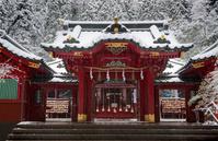神奈川県 雪の箱根神社