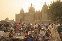 マリ共和国 ジェンネ 市場とジェンネの大モスク