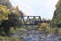 兵庫県 川西市 猪名川 能勢電鉄 鉄橋