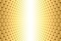 並ぶ立方体と光 3DCG
