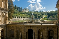 イタリア フィレンツェ パラティーナ美術館 ボーボリ庭園