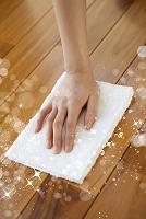 床の雑巾掛け