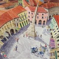 Town Square, Lonigo, Veneto, 1998 (w/c on paper)