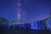 大分県 原尻の滝と天の川