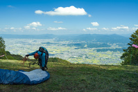 奈良県 葛城山 パラグライダー