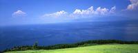 宮崎県 都井岬 草原と海の風景