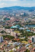 マレーシア ツインタワーから望むクアラルンプール