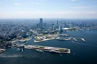 神奈川県 横浜大桟橋よりみなとみらい地区方面