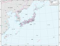 日本周辺 白地図