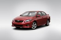 2009 Toyota Corolla XRS in Red - Front angle view