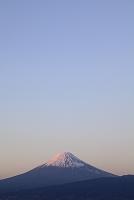 静岡県 大瀬崎 紅富士と夕暮れ空