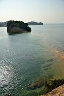 香川県 小豆島 満潮時で沈んだエンジェルロード