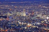 北海道 藻岩山からの札幌市中心街の夜景