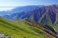 長野県 爺ケ岳から北アルプス南部の山々遠望