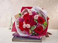 花束 レッド ピンク バラ スプレーバラ