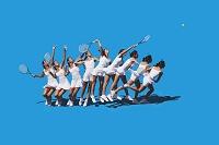 テニス サーブの動き合成