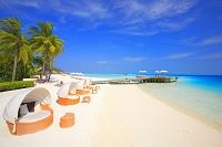 モルディブ リゾート ビーチ