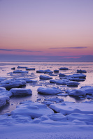 北海道 朝のオホーツク海と流氷