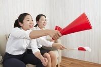 応援するビジネス女性