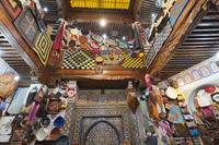 皮製品 土産物店 フェズ モロッコ
