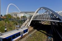 イギリス ロンドン ウェンブリー・スタジアムと駅