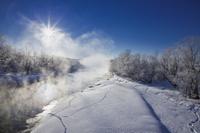 北海道 雪裡川の朝