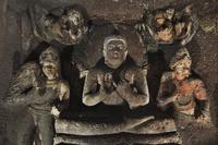 インド アジャンター石窟群 第20窟 仏堂 仏坐像