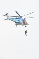 防災訓練 ‐ 倒壊建物等からの救出救助訓練 警視庁ヘリによる...