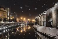北海道 小樽市 小樽運河 雪あかりの路