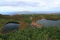 北海道 東川町 大雪山国立公園 夫婦池(擂鉢池と鏡池)