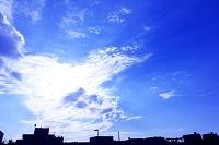 大阪府 和泉市 青空と雲と太陽