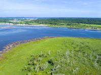 北海道 春国岱 風連湖 風蓮湖と根室湾を分ける砂州