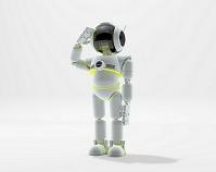 敬礼するロボット