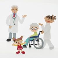 患者と介護士と医者のクラフト