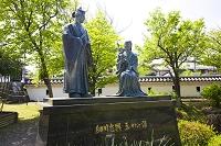 京都府 細川忠興とガラシャ(お玉)の像
