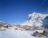 スイス グリンデルワルド雪景色