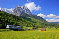 ドイツ ツークシュピッツェ山とバイエルン・ツークシュピッツ鉄道
