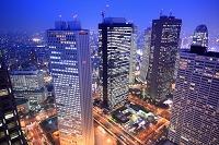 東京都 都庁から高層ビル群 夜景