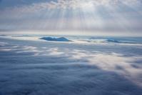 北海道雲海と道央の山