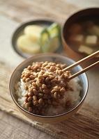 納豆ごはんのある朝食 和食