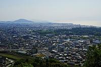 滋賀県 佐和山城跡から見た彦根城と琵琶湖