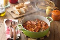 豚バラ肉と白いんげん豆のトマト煮