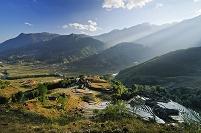 ベトナム ラオカイ省 サパ 段々畑の風景